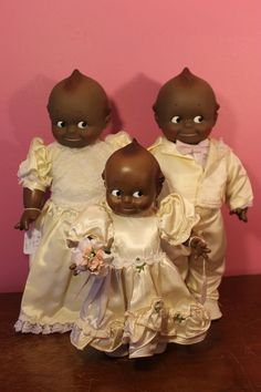 Cameo Kewpie Black Bridal Party: Set of 3 #Kewpie