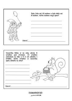 Slovné úlohy z matematiky - Nasedeticky. Special Needs, Education, Comics, Cartoons, Onderwijs, Learning, Comic, Comics And Cartoons, Comic Books