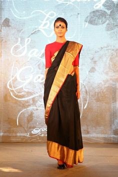 Rebecca Maumkil in Raw Moango by Sanjay Garg (Vouge's Black Sari Project)