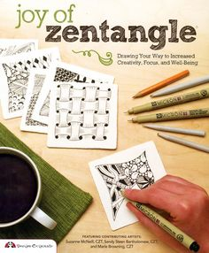 Joy of Zentangle Adult Coloring Drawing Activity Book