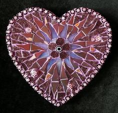 Eva - beautiful heart mosaic by Ruth Ames-White