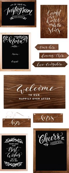 Fox & Fallow Chalkboard and Timber Wedding Signs / Oh So Beautiful Paper