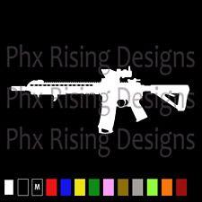 AR-15 Vinyl Decal Sticker Car Window Wall Bumper Gun Assault Rifle M16 5.56 2