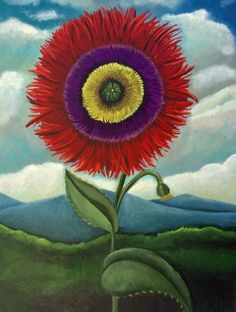 Bloom-new work, painting by artist Catherine Nolin