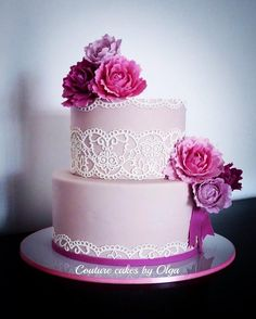 Peonies bd cake by Couture cakes by Olga
