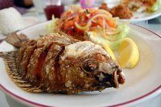 pesce fritto della cucina africana - Ghana