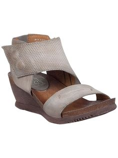 """Leather Upper Leather Lining Cork Footbed 2.25"""" Flexible Wedge"""
