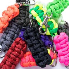 Paracord Zipper Pulls are a great way to spice up your backpack or jacket.