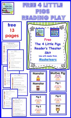 Free 4 Little Pigs Readers Theater Play | BookaDay