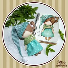 Ma Petite Poupee - Mint Gnome  материалы: трикотаж, бязь, шерсть, микрофибра, атласная лента, холлофайбер, пластика. размер: h=14,5cm, w=...