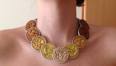 Impero Necklace (Short Princess Lenght Retro Handmade Recycled)