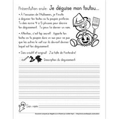 Présentation orale: Je déguise mon toutou Communication Orale, Presentation, Learn French, Halloween, Teaching, Education, Health, Doggies, Reading