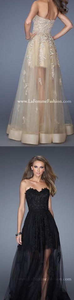 dressestime.com Real Images Off Shoulder Sweetheart Black Champagne Long Lace…