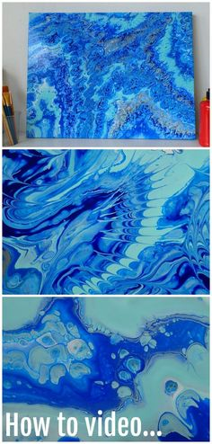 Acrylic pouring and fluid acrylics video tutorial for how to create this mesmerising poured painting.