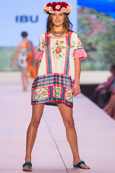 ibu Movement Runway Collection | Mexican Dress with African Glass Beads