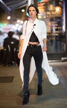Alessandra Ambrosio from The Big Picture: Today's Hot Pics  The model is spotted taking a stroll in the city of light during Paris Fashion Week.