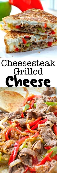 Cheesesteak Grilled Cheese All the flavors you know and love from a classic cheesesteak come together in the form of a grilled cheese! This fun sandwich is my new favorite way to eat a cheesesteak – and it's gluten-free! Grilled Cheese Recipes, Beef Recipes, Cooking Recipes, Healthy Recipes, Grilled Cheeses, Panini Recipes, Quesadilla Recipes, Wrap Recipes, Delicious Recipes