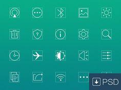 20 settings line icons