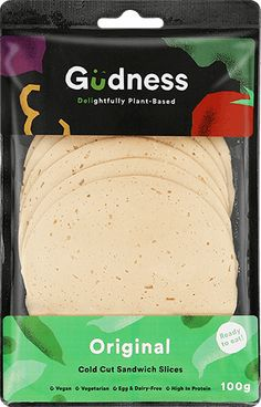 Gudness - SA's first ready to eat plant-based deli sandwich slice. Protein Meats, Drinks Before Bed, Deli Sandwiches, Cold Cuts, Egg Muffins, Plant Based, Vegetarian, Nutrition, Snacks