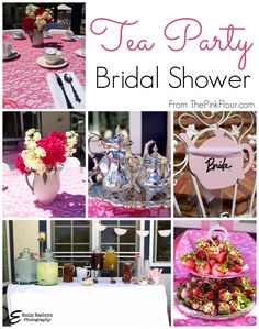 Tea Party Bridal Shower - a modern spin on a traditional theme from www.thepinkflour.com  Could be fun girls birthday party too