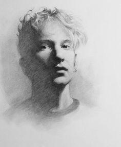 Portrait drawing by Jeremy Mann