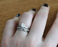 i love the idea of getting stackable wedding bands as in plural