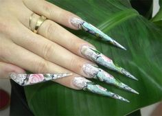 New Stiletto nail shape - Obele made by Virginie Dolle ~ Why? lol