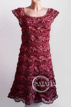 šaty zo stužiek - schéma