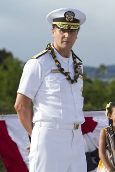 "Liam Neeson in the movie ""Battleship"".     Loved him in Les Miserables."