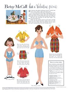 TOYS, CHILDRENS BOOKS FROM THE  1950'S MCCALLS PAPERDOLLS | ... about my fond memories of playing with paper dolls when i was a