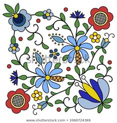 The Latest Trend in Embroidery – Embroidery on Paper - Embroidery Patterns Folk Embroidery, Learn Embroidery, Hand Embroidery Designs, Vintage Embroidery, Embroidery Patterns, Machine Embroidery, Floral Embroidery, Folk Art Flowers, Flower Art