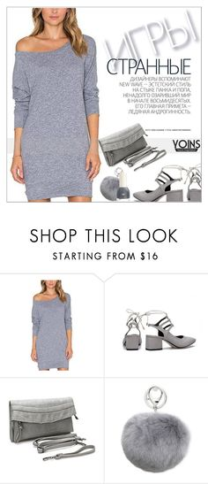 """""""Yoins38: Shades of Grey"""" by shambala-379 on Polyvore featuring Hedi Slimane, Adrienne Landau, casualoutfit, gray and yoins"""