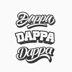 DAPPA - Follow us for daily logo design inspiration @logotorque on instagram Script Logo, Logo Concept, Logo Design Inspiration, Art Logo, Lettering, Writing, Logos, Beards, Instagram