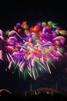 Heart Fireworks over Toyota Stadium, Aichi, Japan 豊田おいでん祭り | Ryu Hamaguchi