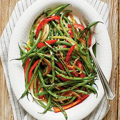 Caramelized Spicy Green Beans | MyRecipes.com
