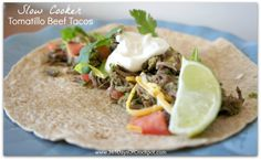 365 Days of Slow Cooking: Recipe for Slow Cooker Tomatillo Beef Tacos