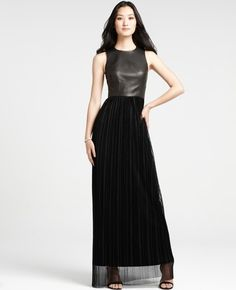 Ann Taylor - AT Dresses - Black Ice Sleeveless Gown - StyleSays