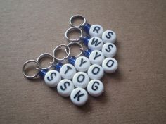 Knitters Helper  reminder stitch markers for knit