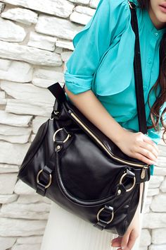 Vintage PU Leather Bow Tie Totes Shoulder Bag, #Wendybox