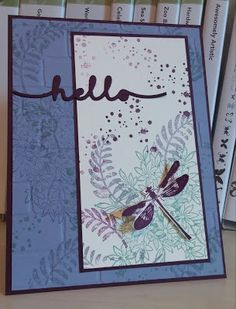 Windy's Wonderful Creations, Stampin' Up!, Awesomely Artistic, Brick Wall emboss folder, Greetings thinlits