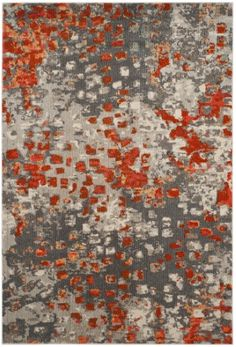 Clifford Burnt Orange Gray Area Rug Living Room In 2018 Pinterest Rugs And
