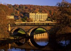 Chatsworth House, Devonshire, England. Home of Georgiana Spencer Cavendish, Duchess of Devonshire.