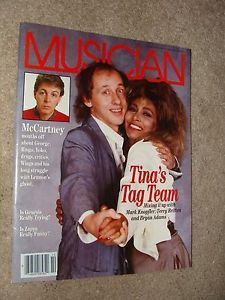Tina-Turner-USA-Magazine-034-Musician-034-on-Cover-1986-Excellent-shape