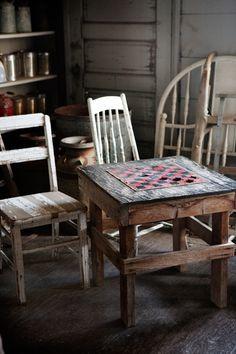 Grandpa's Old Checker Table