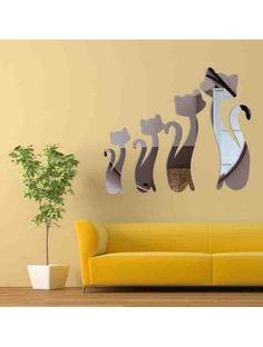 Moderner Wandaufkleber - Schwarze Katzen Artikel-Nr.:  OX013-Wall sticker  Zustand:  Neuer Artikel  Verfügbarkeit:  Auf Lager  Spiegel Aufkleber und Abziehbilder sind schöne Dekoration des Innenraums. Sie können als Spiegel dienen als auch die Wand Ihres Hauses oder Ihrer Wohnung wiederzubeleben. Bunt, How To Make, Home Decor, 3ds Colors, Wall Hanging Decor, Room Interior, Mirrors, Luxury, Black Cats