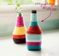 cam şişeden vazo yapımı