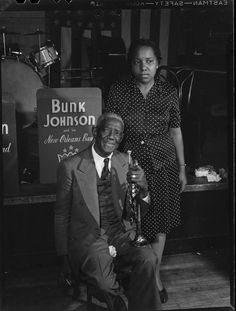 Bunk Johnson & Maude Johnson, Stuyvesant Casino, New York, N.Y. ca. June 1946 © Photo by WPGottlieb