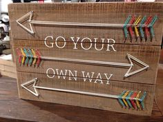 """Go your own way"" arrows nail & string art"