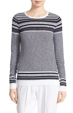 Vince Stripe Cotton Pullover available at #Nordstrom