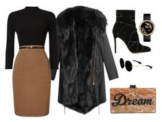 Black & Brown by carolineas on Polyvore featuring polyvore, fashion, style, Phase Eight, Barbed, Gianvito Rossi, Edie Parker, Miu Miu and clothing